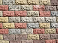 Color decorative pavement tile background Royalty Free Stock Image