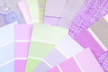 Color design selection pastel for interior Royalty Free Stock Photo