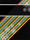 Color diagonals over black background Royalty Free Stock Photo
