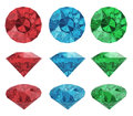 Color diamonds Royalty Free Stock Images