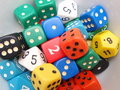 Color Dices Royalty Free Stock Photos