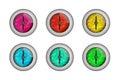 Color dragon eyeballs set of d render Stock Photos