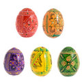 Color easter eggs Royalty Free Stock Photography