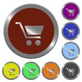Color empty shopping cart buttons Royalty Free Stock Photo