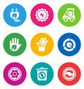 Color environmental icons Royalty Free Stock Images