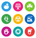 Color environmental icons Royalty Free Stock Photography