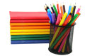 Color exercise book and pencil Royalty Free Stock Photography