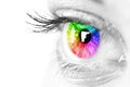 Color eye beautiful woman Royalty Free Stock Photo
