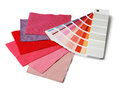 Color and fabric samples Royalty Free Stock Photos