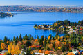 Color of fall, autumn scenery, Bellevue Washington Royalty Free Stock Image