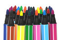 Color felt-tip pens Stock Photo