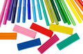 Color felt-tip pens and plasticine Royalty Free Stock Photo