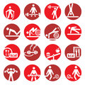 Color fitness and sport icons Stock Photos