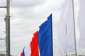 Color flags of white, blue and red colors. Stock Image