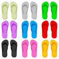 Color flip flop Stock Image