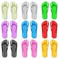 Color flip flop set