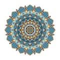 Color floral mandala, vector illustration