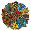Color floral pattern Royalty Free Stock Photo