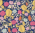 Color floral sketch seamless Royalty Free Stock Photos