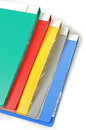 Color folders white Stock Image