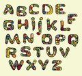 Color font in the style of ethnic Stock Image