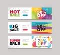 color full price baner designe template background