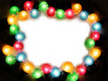 Color garland frame with white Stock Photography