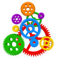 Color gears Royalty Free Stock Photo
