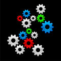 Color Gears Royalty Free Stock Photos