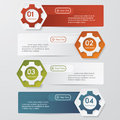 Color Gears Infographics Number Options Banner. Royalty Free Stock Photo