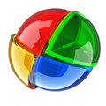 Color glass ball Royalty Free Stock Photography