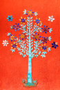 Color Glass Mosaic Tree Royalty Free Stock Photo