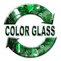 Color glass recycling Royalty Free Stock Photo