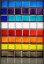 Color glass square Stock Photos