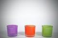 Color glasses for interiors with black vignette decoration conc concept Stock Photos