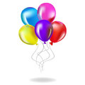 Color Glossy Balloons Background Vector Illustration - Illustration