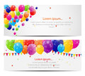 Color glossy balloons card background vector illustration this is file of eps format Stock Photography