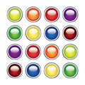 Color glossy web buttons Royalty Free Stock Photo
