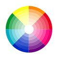 Color gradient rainbow sided Stock Photography