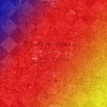Color grunge checkered background Royalty Free Stock Photo