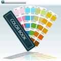 Color Guide Chart Stock Photo