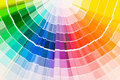 Color guide samples Royalty Free Stock Photo