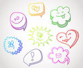 Color hand drawn speech bubbles Stock Photo