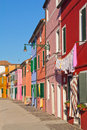 Color hoses (Island Burano, Venice, Italy) Stock Photography