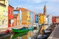 Color houses on burano island near venice italy Stock Image