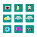 Color icons weather Royalty Free Stock Photo