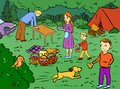 stock image of  Illustration - Great picnic outdoor recreation with family