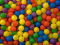 Color image of blue, green, red, yellow sport ball Royalty Free Stock Image