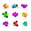 Color ink splats Stock Image