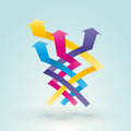 Color intertwined arrow Royalty Free Stock Photo
